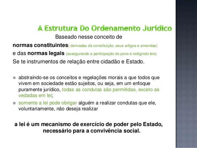 Baseado nesse conceito de normas constituintes( derivadas da constituição, seus artigos e emendas) e das normas legais (as...