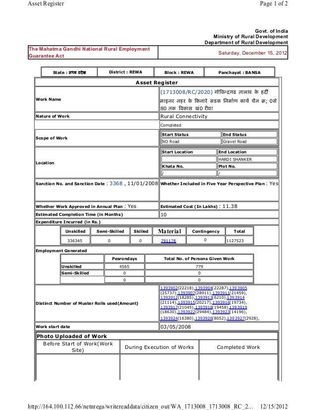 Asset Register                                                                                               Page 1 of 2  ...