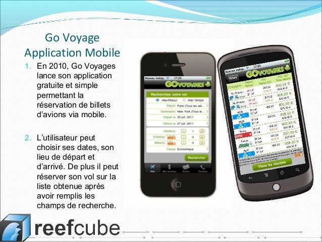 Application Mobile Govoyages.com par Reefcube Ltd Slide 2