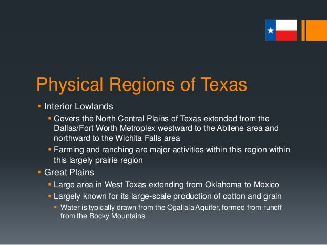 ... 8. Physical Regions Of Texas  Interior Lowlands ...