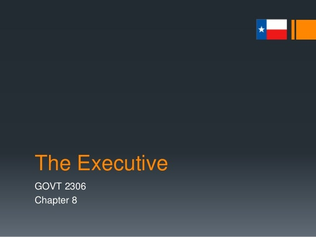 The Executive GOVT 2306 Chapter 8