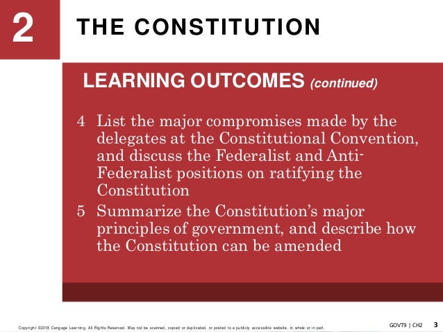 American Government Chapter 2 The Constitution
