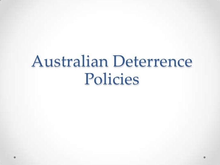 Australian Deterrence Policies<br />