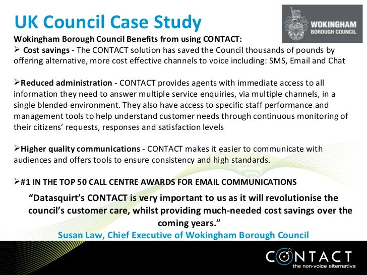 "<ul><li>"" Datasquirt's CONTACT is very important to us as it will revolutionise the council's customer care, whilst provid..."