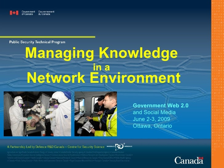 Managing Knowledge  in a   Network Environment Government Web 2.0  and Social Media June 2-3, 2009 Ottawa, Ontario