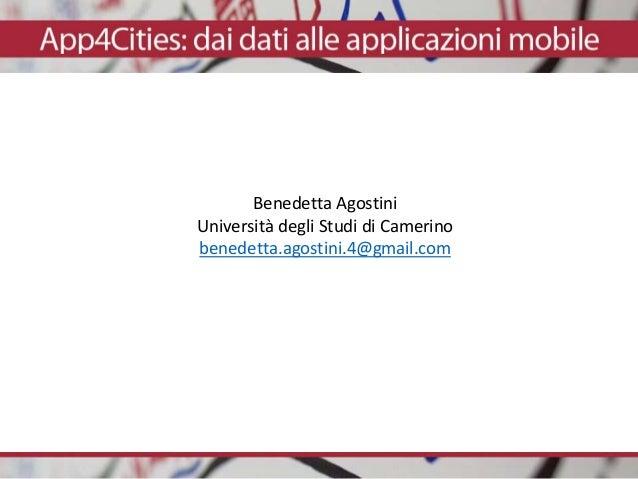 Benedetta Agostini Università degli Studi di Camerino benedetta.agostini.4@gmail.com