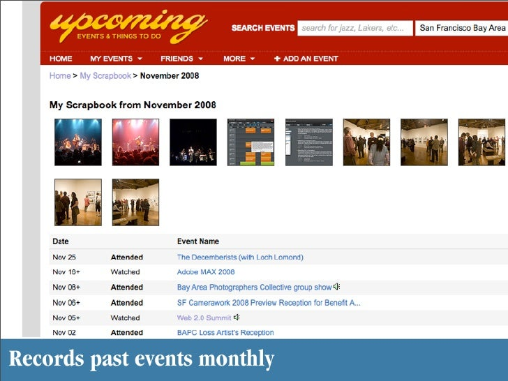 Records past events monthly
