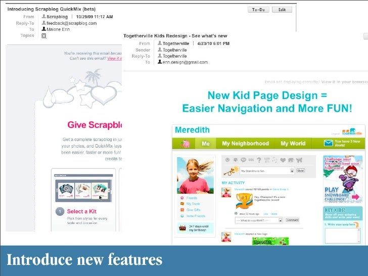 Introduce new features