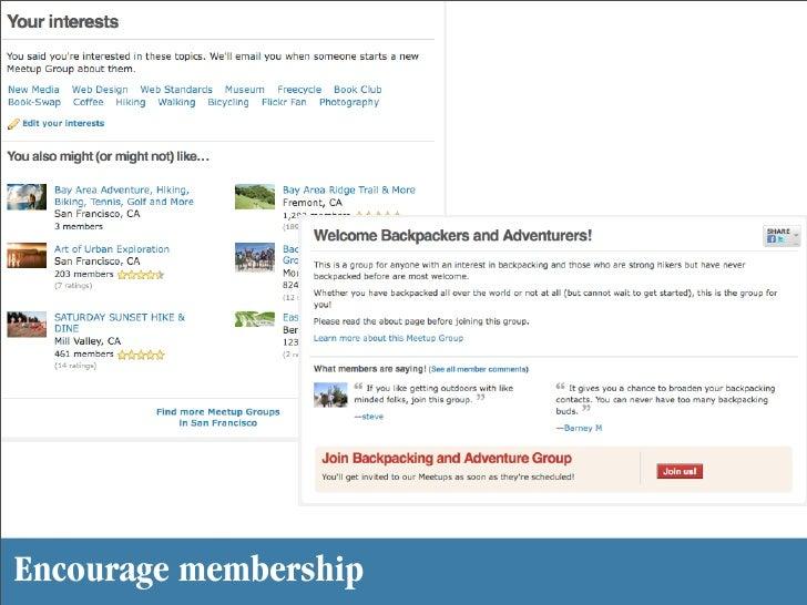 Encourage membership