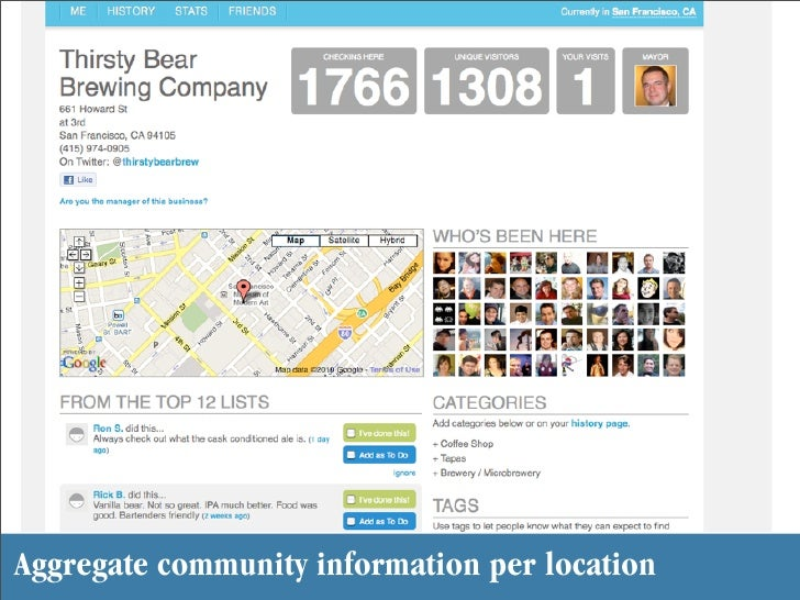 Aggregate community information per location