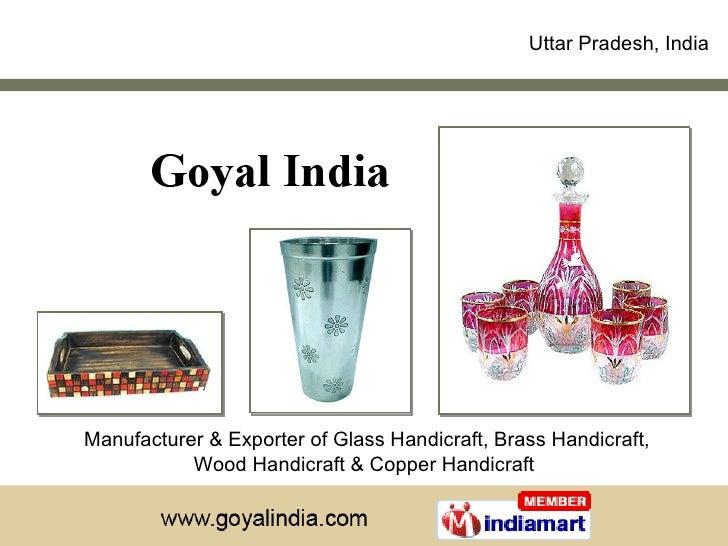 Manufacturer & Exporter of Glass Handicraft, Brass Handicraft, Wood Handicraft & Copper Handicraft  Uttar Pradesh, India