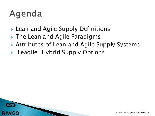 The Difference Between Agile vs. Lean Supply Chain Management