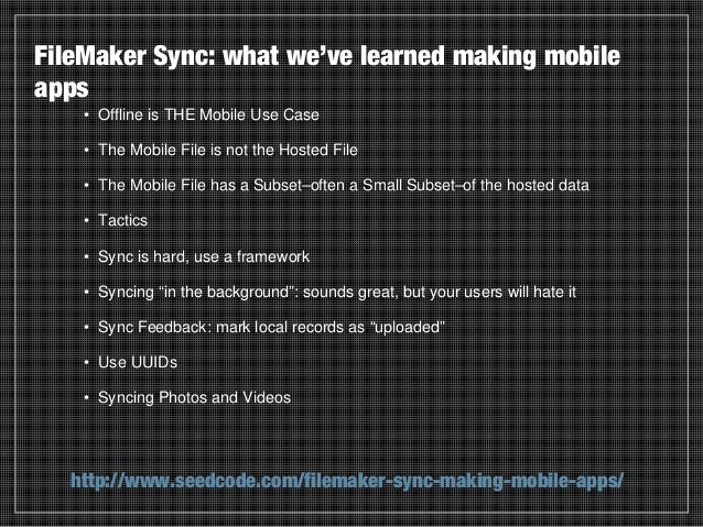 Syncing FileMaker Go with GoZync