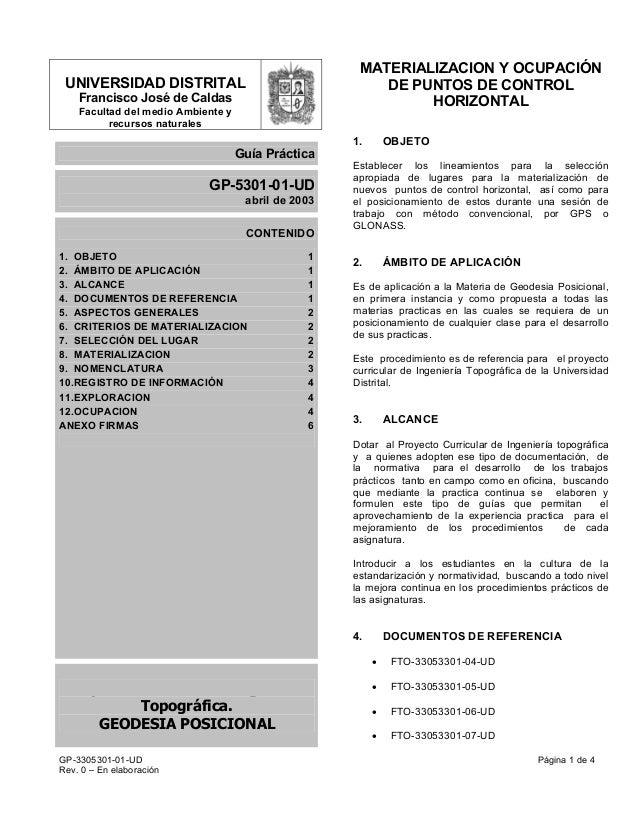 UNIVERSIDAD DISTRITALFrancisco José de CaldasFacultad del medio Ambiente yrecursos naturalesGuía PrácticaGP-5301-01-UDabri...