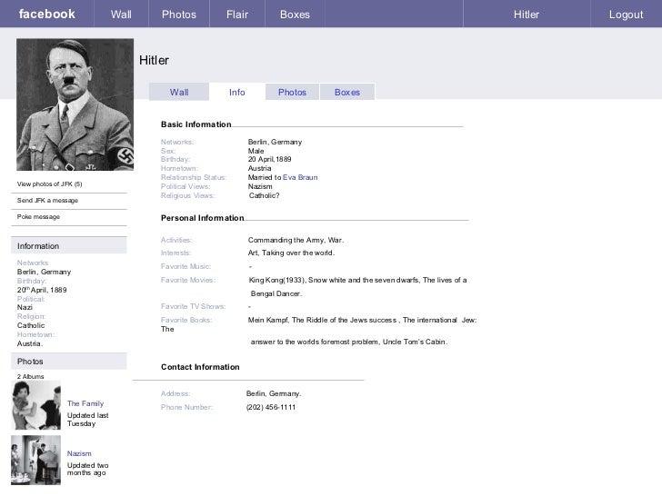 Adolf Hitler Facebook