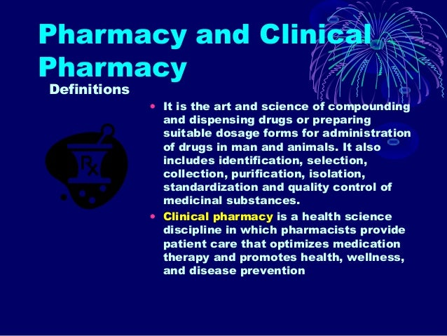 an analysis of the profession of pharmacy in the art and science of compounding medications Some pharmacists who own their pharmacy or  a process known as compounding  these facilities will need more pharmacists to oversee the medications given.