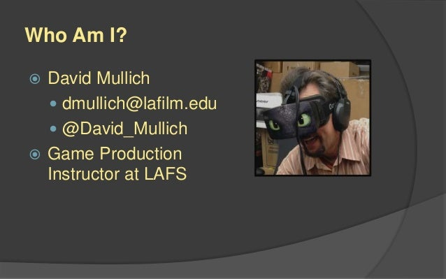 Game Production 1 Lecture Slide 2