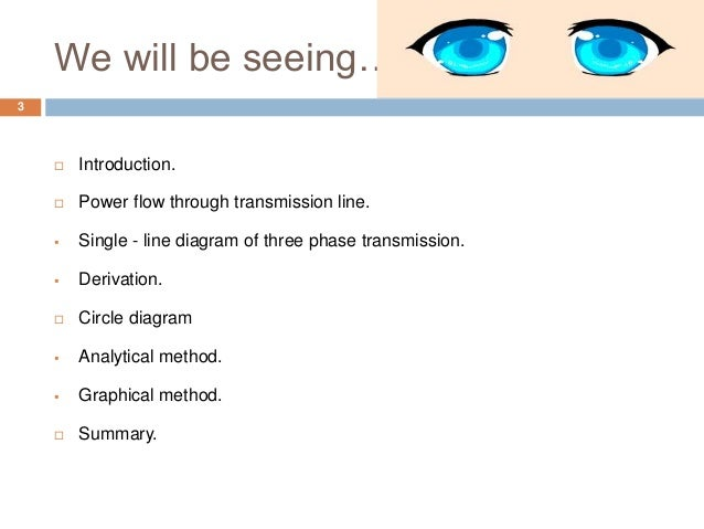 We will be seeing…  Introduction.  Power flow through transmission line.  Single - line diagram of three phase transmis...