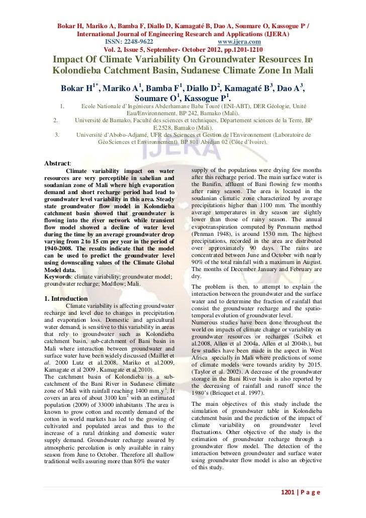 Bokar H, Mariko A, Bamba F, Diallo D, Kamagaté B, Dao A, Soumare O, Kassogue P. /           International Journal of Engin...
