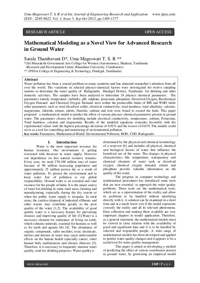 Uma Mageswari T. S. R et al Int. Journal of Engineering Research and Application ISSN : 2248-9622, Vol. 3, Issue 5, Sep-Oc...