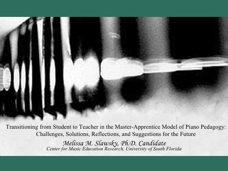 Transitioning from Student to Teacher in the Master-Apprentice Model of Piano Pedagogy: Challenges, Solutions, Reflections...