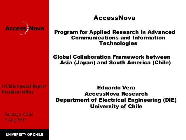 AccessNova  Program for Applied Research in Advanced  Communications and Information  Technologies  Global Collaboration F...