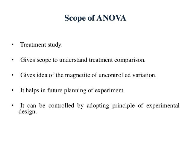 anova manova advantages disadvantages