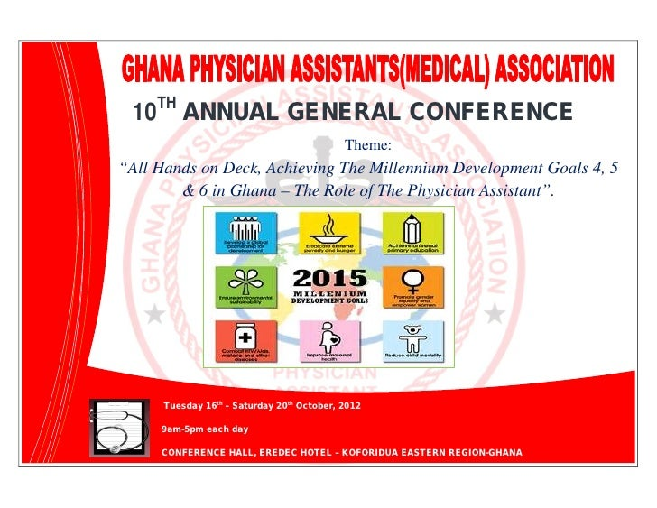 """TH          10        ANNUAL GENERAL CONFERENCE                                                     Theme:         """"All Ha..."""