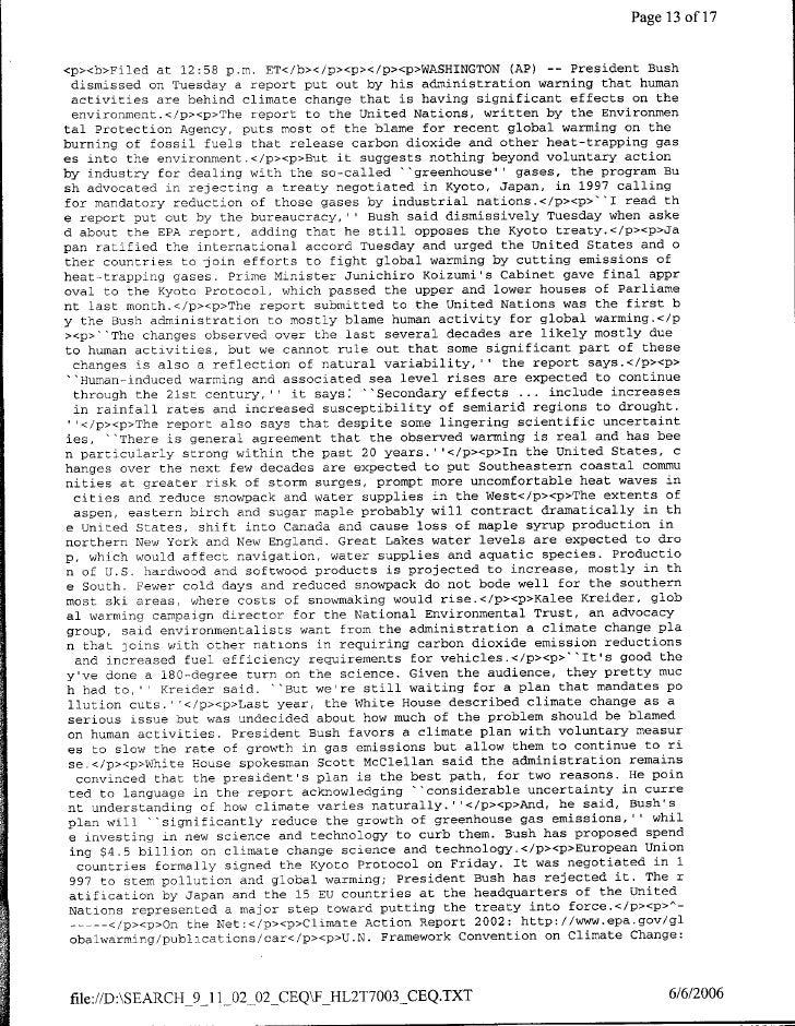 Page 13 ofl17   <p><b>Filed at 12:58 p.m. ET</b></p><p><c/p><p>WASHINGTON CAP) -- President Bush   dismissed on Tuesday a ...