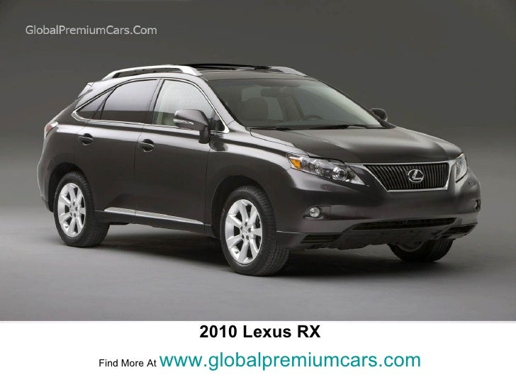 2010 Lexus RX Find More At  www.globalpremiumcars.com