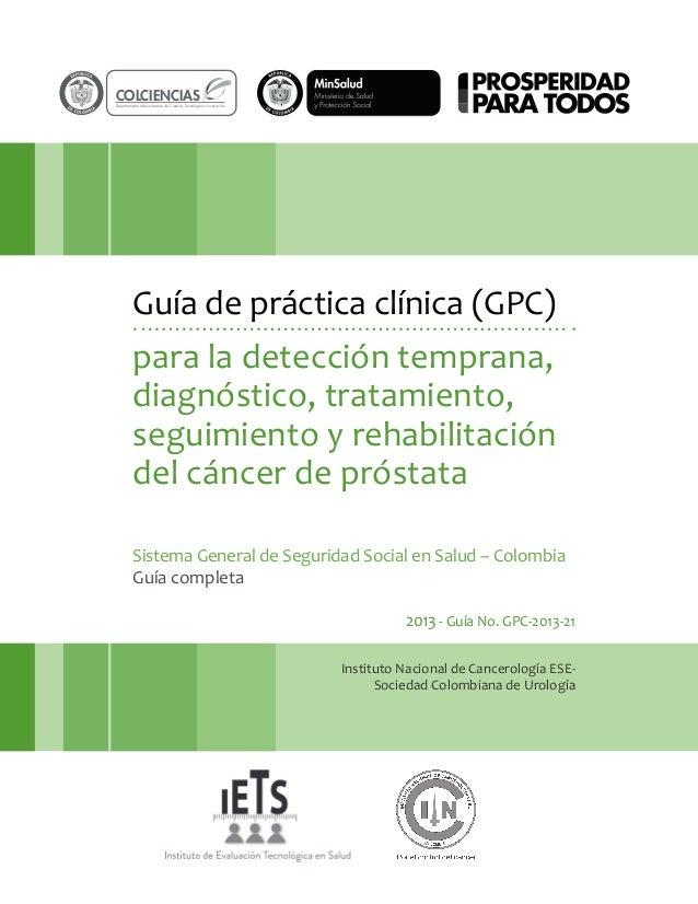 rtad  O  COLCIENCIAS  rtad  O  Departamento Administrativo de Ciencia, Tecnología e Innovación  Guía de práctica clínica (...