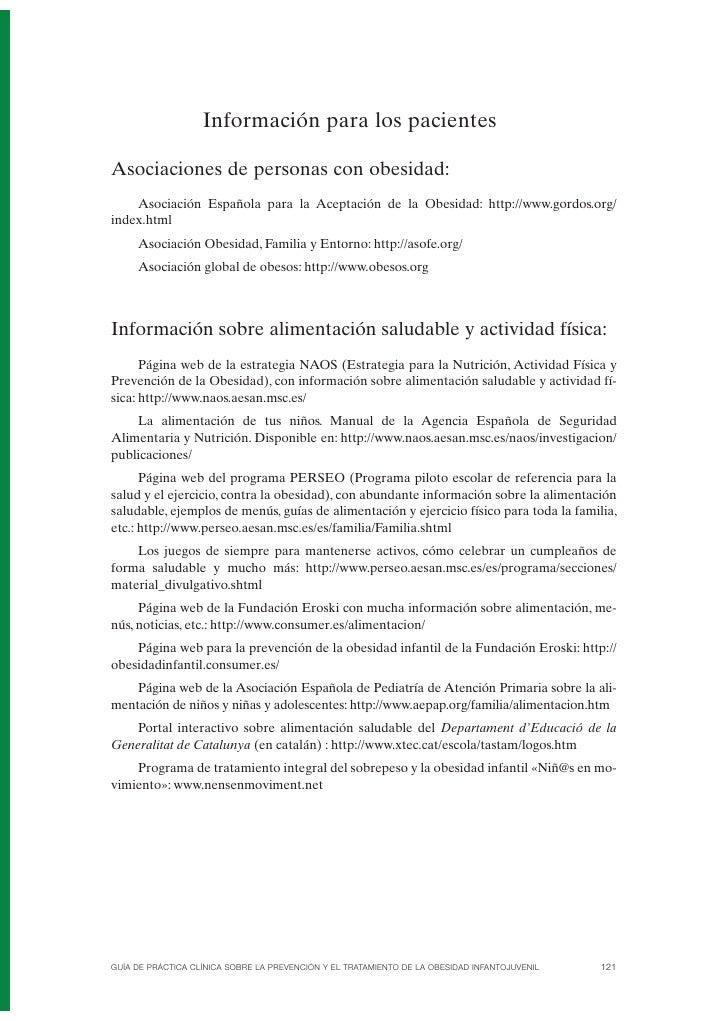 Anexo 3. Información para los pacientes  Asociaciones de personas con obesidad:     Asociación Española para la Aceptación...