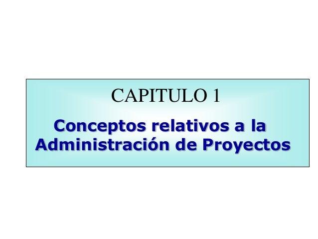 Conceptos relativos a la administraci n de proyectos for Administracion de proyectos