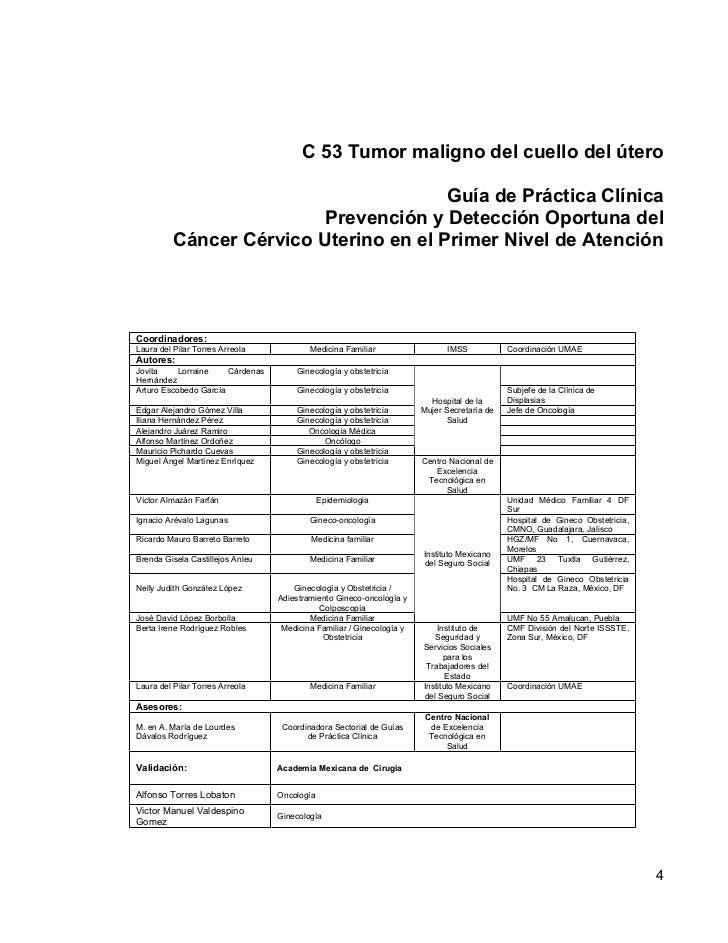 Gpc cáncer cérvico uterino - photo#26