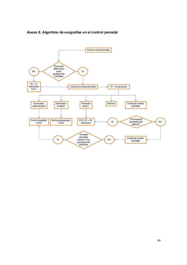 39      Anexo 8. Algoritmo de ecografías en el control prenatal