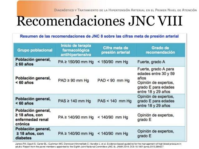 HIPERTENSION ARTERIAL SISTEMICA JNC 8 PDF