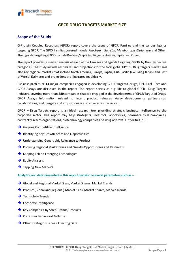 Gpcr drug targets market research report
