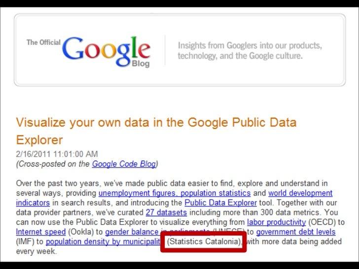 El Idescat en Google Public Data Explorer Slide 2