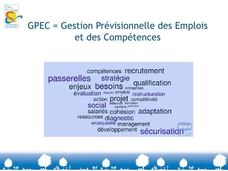 GPEC = Gestion Prévisionnelle des Emplois et des Compétences<br />