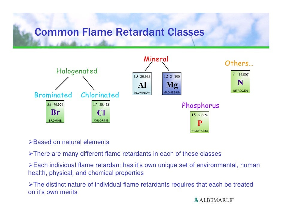 Chemical Properties Of Flame Retardants