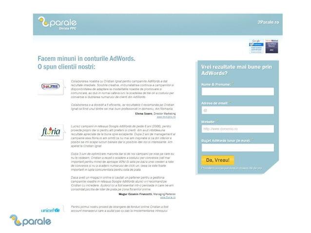 Cum sa analizezi corect o campanie Google AdWords - Studiu de caz GPeC 2013