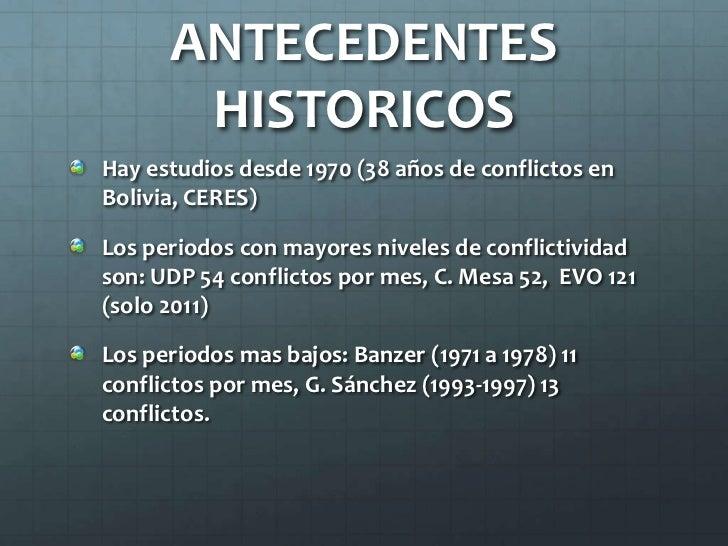 Tendencias del Conflicto Social en Bolivia - Gustavo Pedraza Slide 2