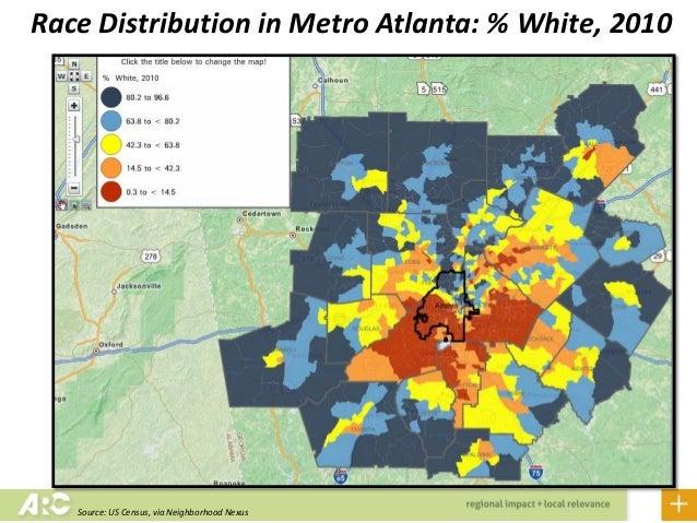 Changing Demographics Of Georgia And Metro Atlanta - Us Census Map Race