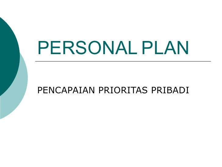 PERSONAL   PLAN PENCAPAIAN PRIORITAS PRIBADI