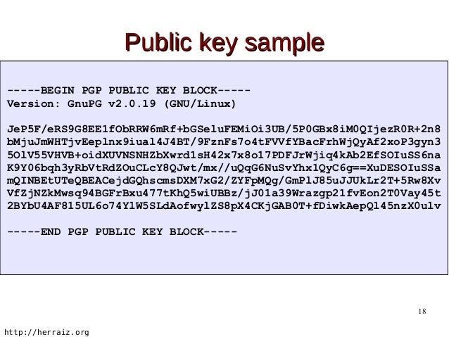 pgp public key block