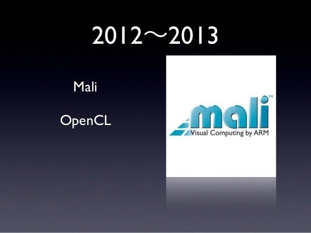 MaliOpenCL2012∼2013