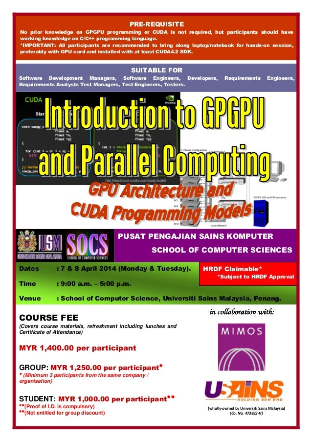(wholly-owned by Universiti Sains Malaysia) (Co. No. 473883-H) Dates : 7 & 8 April 2014 (Monday & Tuesday). Time : 9:00 a....