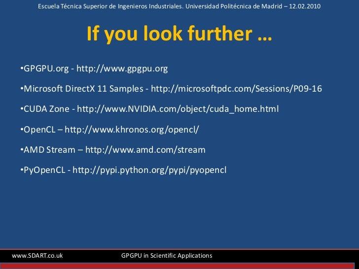 GPGPU in scientifc applications