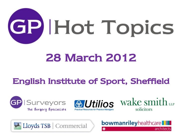 28 March 2012English Institute of Sport, Sheffield