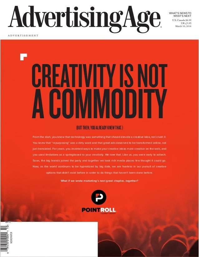 CREATIVITYISNOT ACOMMODITYFrom the start, you knew that technology was something that should elevate a creative idea, not ...